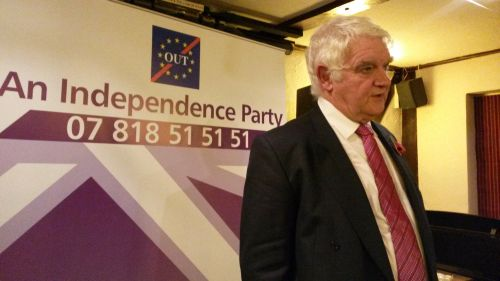Mike Nattrass the Party Leader at the the launch of AN INDEPENDENCE PARTY